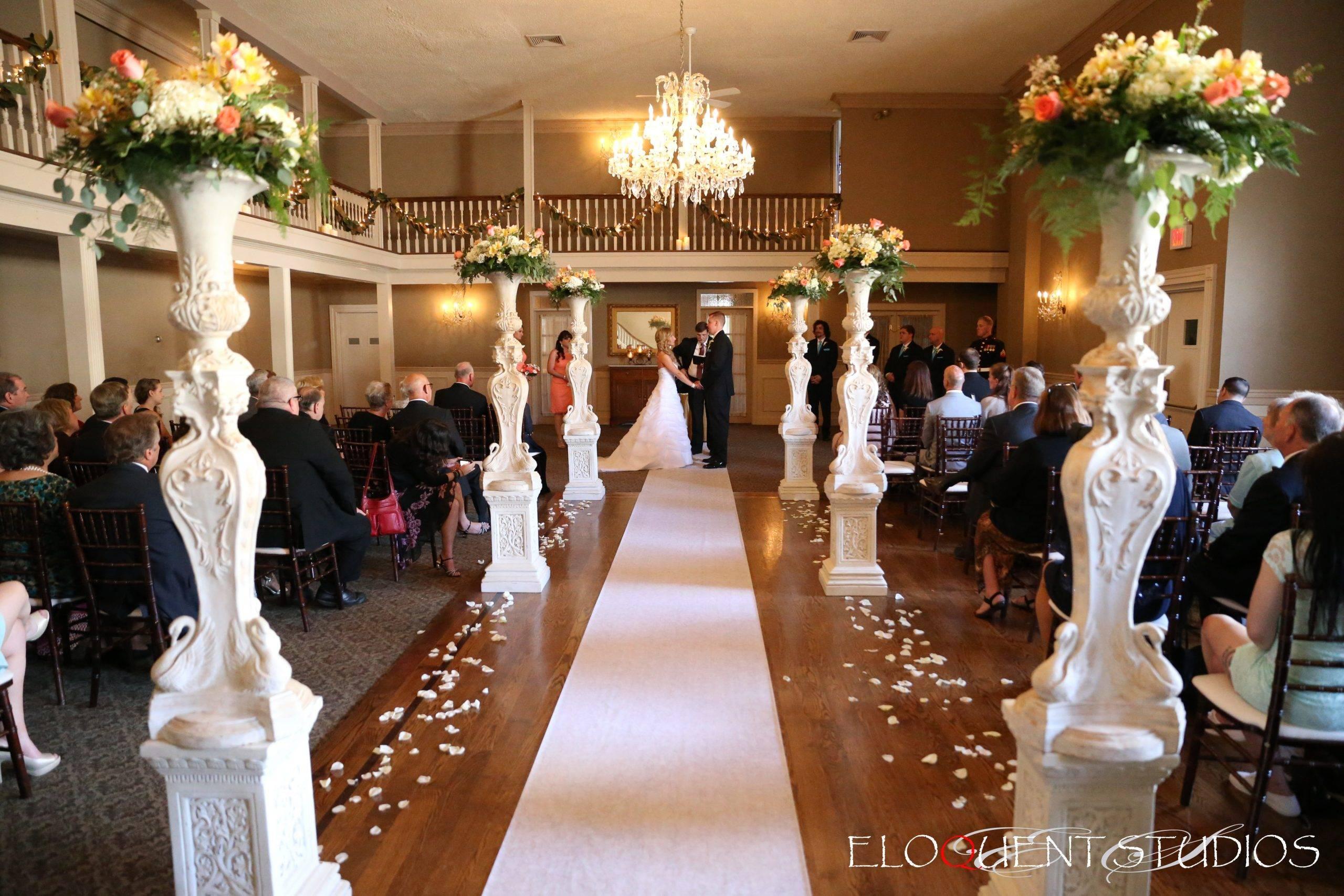 David's Country Inn indoor wedding ceremony