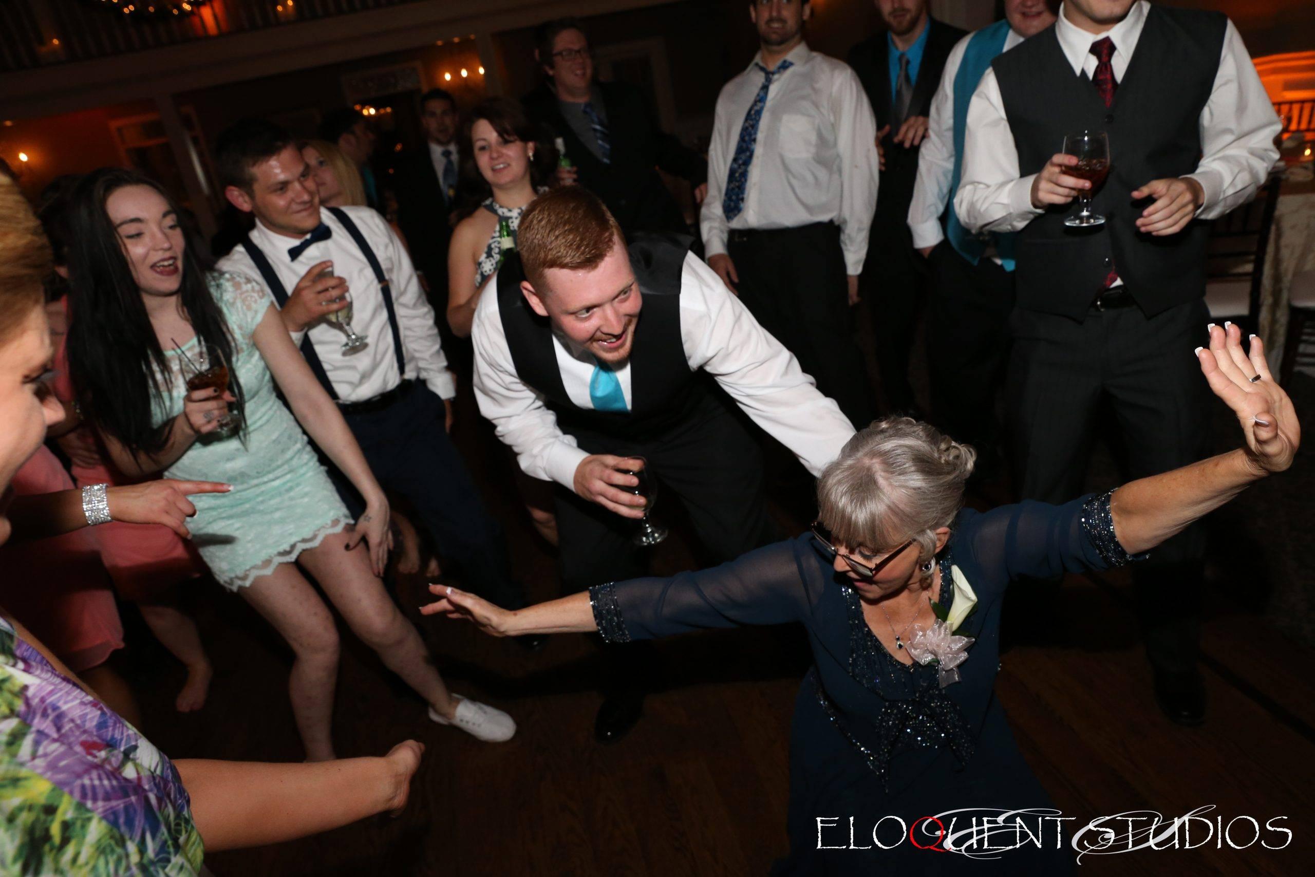 David's Country Inn dancing at the wedding