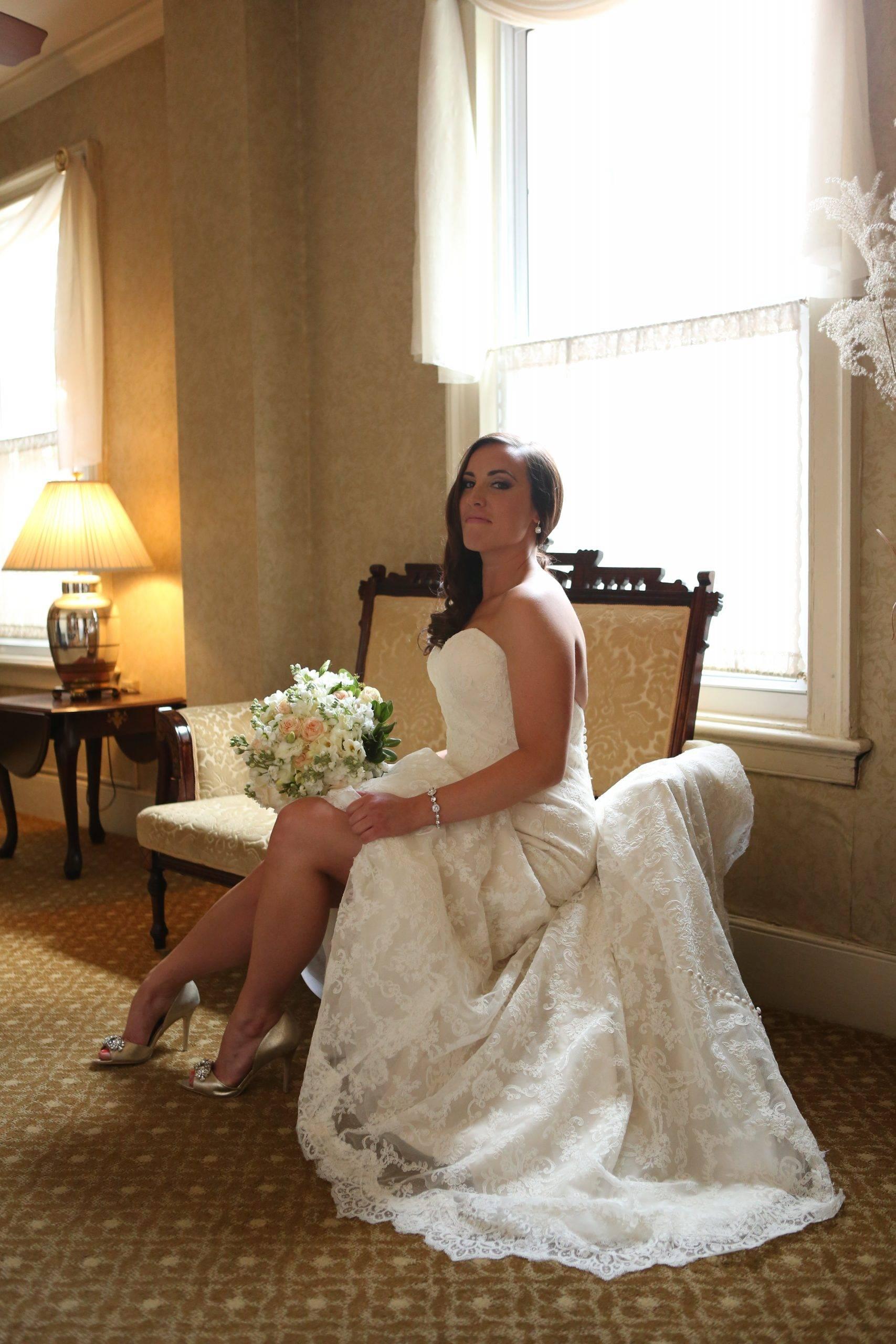 David's Country Inn bride ready in salon