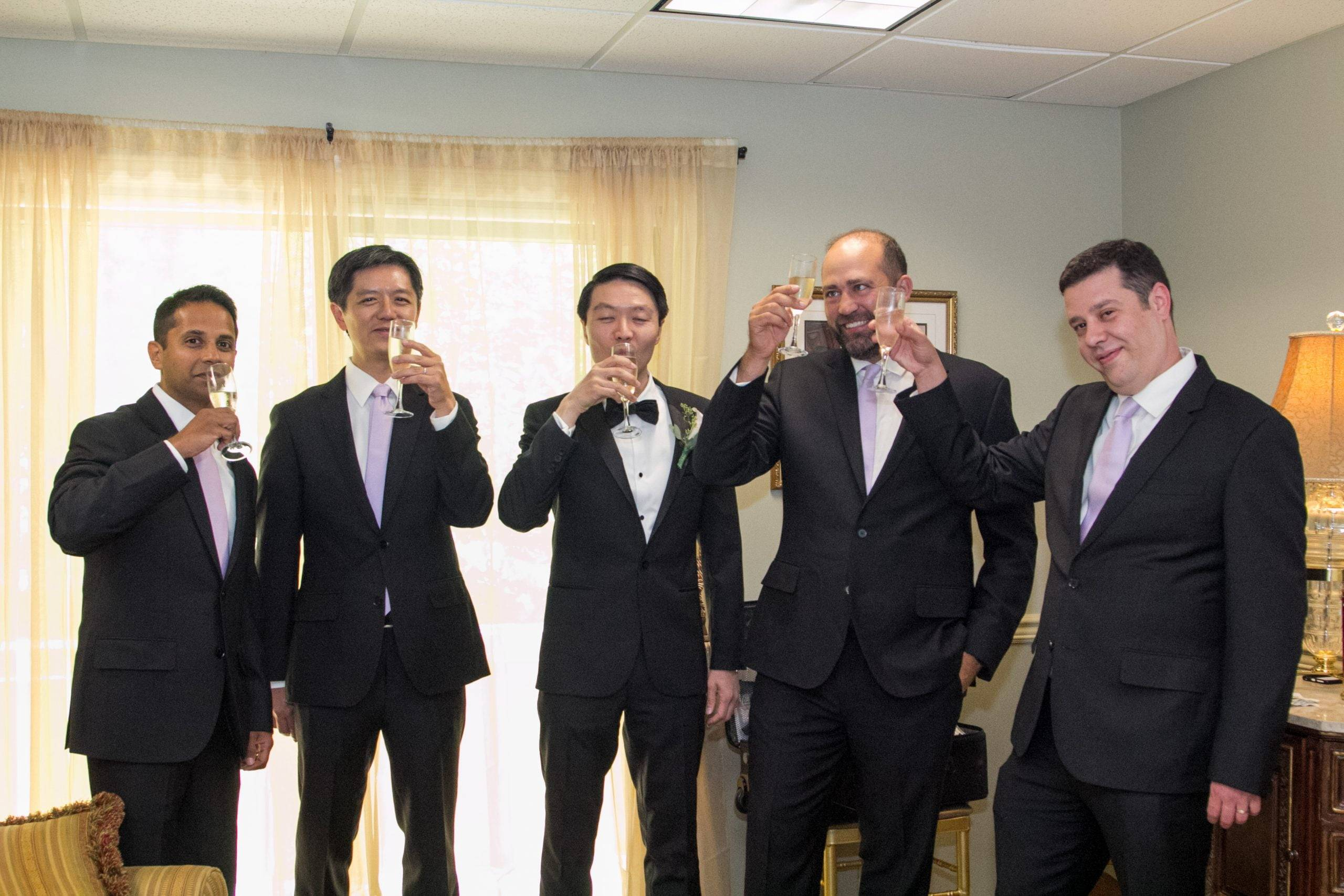 Brooklake groomsmen ready for the wedding