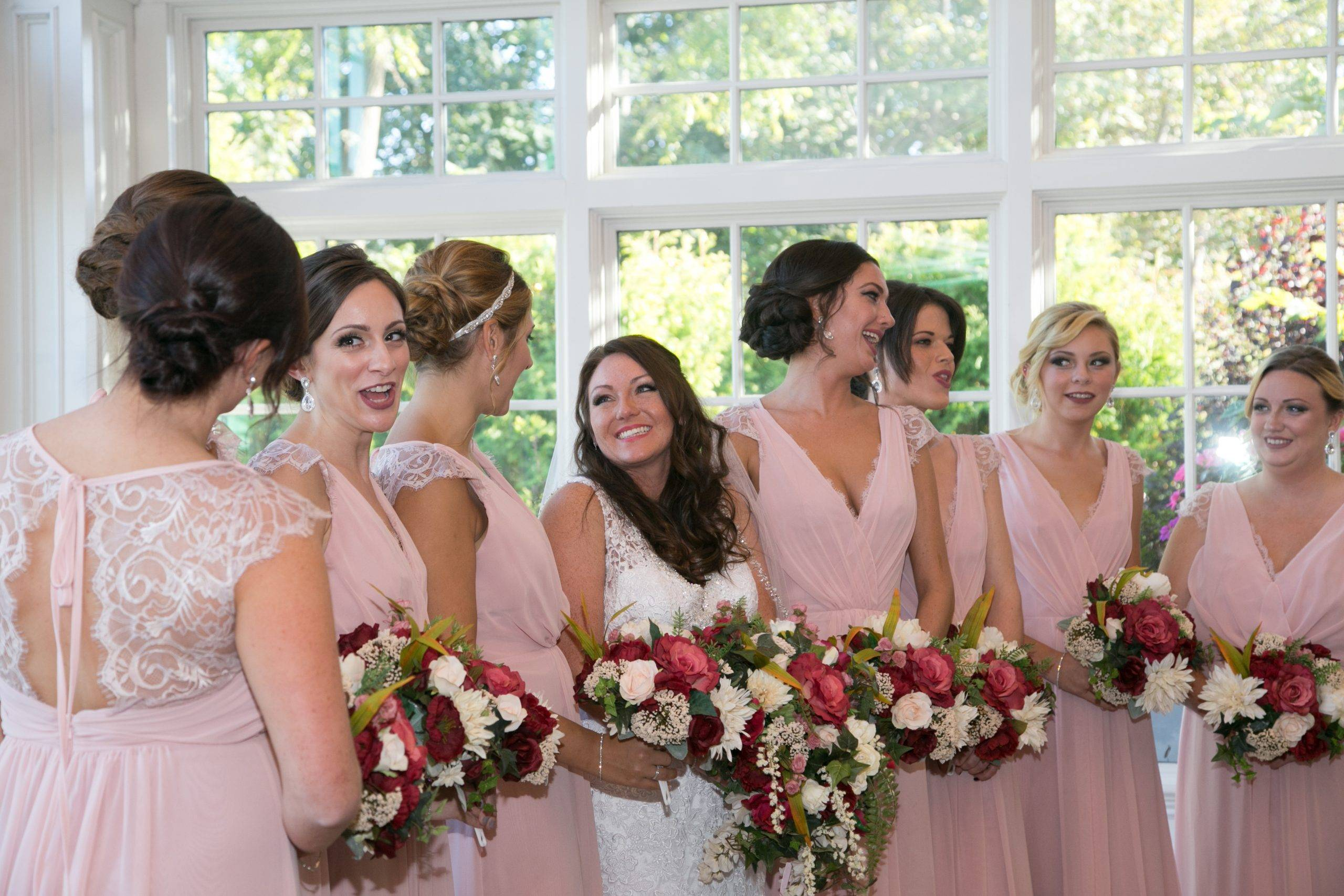 Park Savoy bride and her bridesmaids ready for the wedding