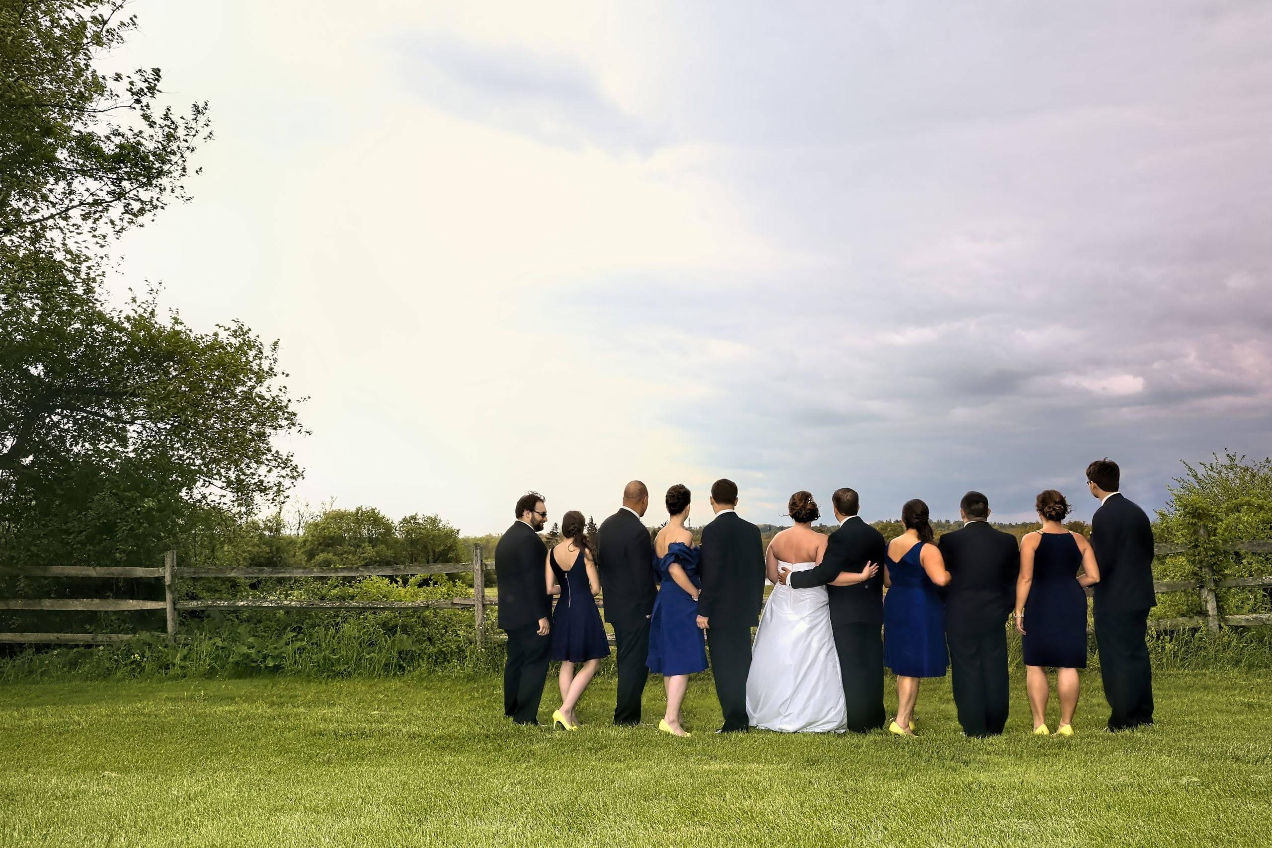 Basking Ridge CC bridal party from behind