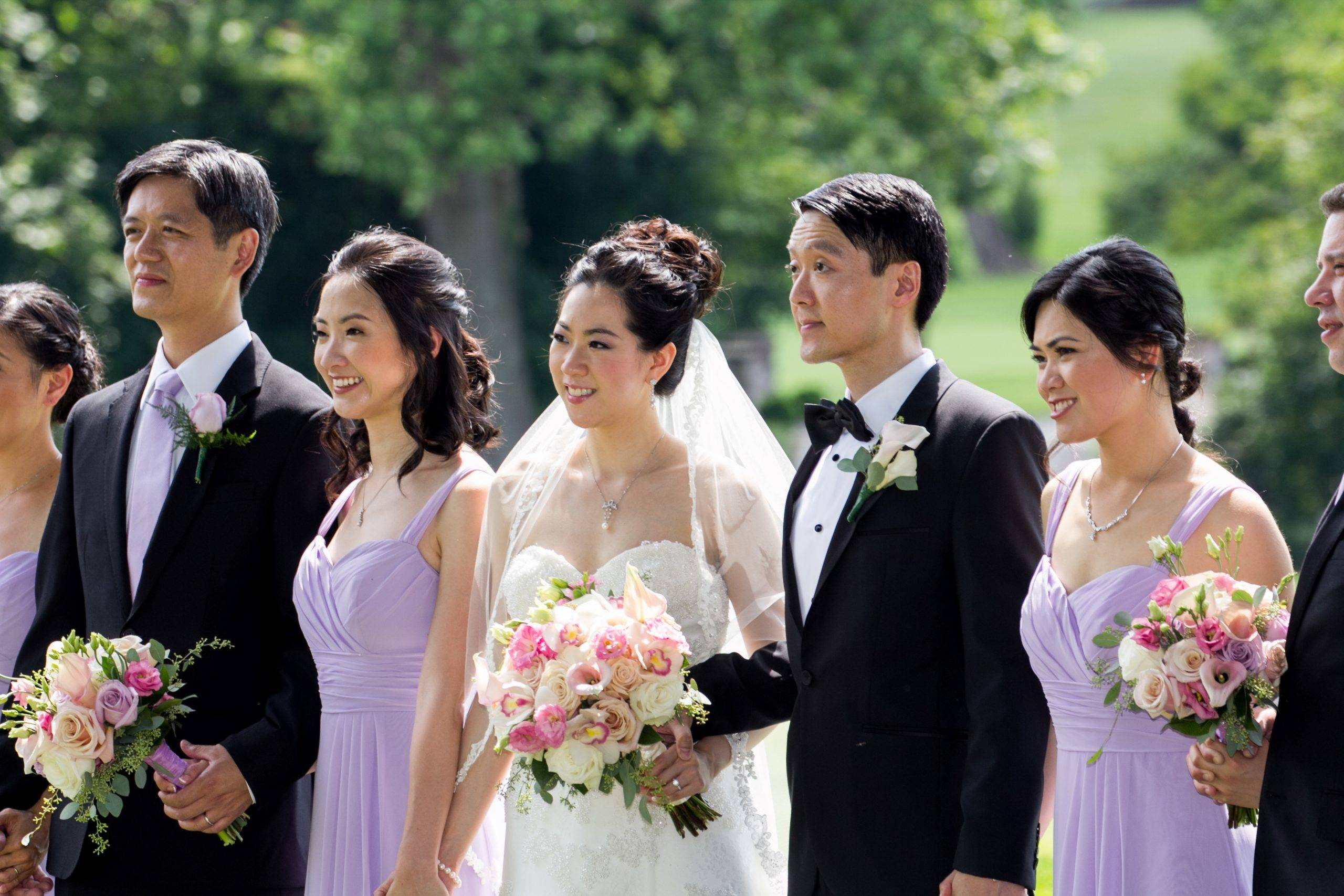Brooklake bride and groom with bridal party