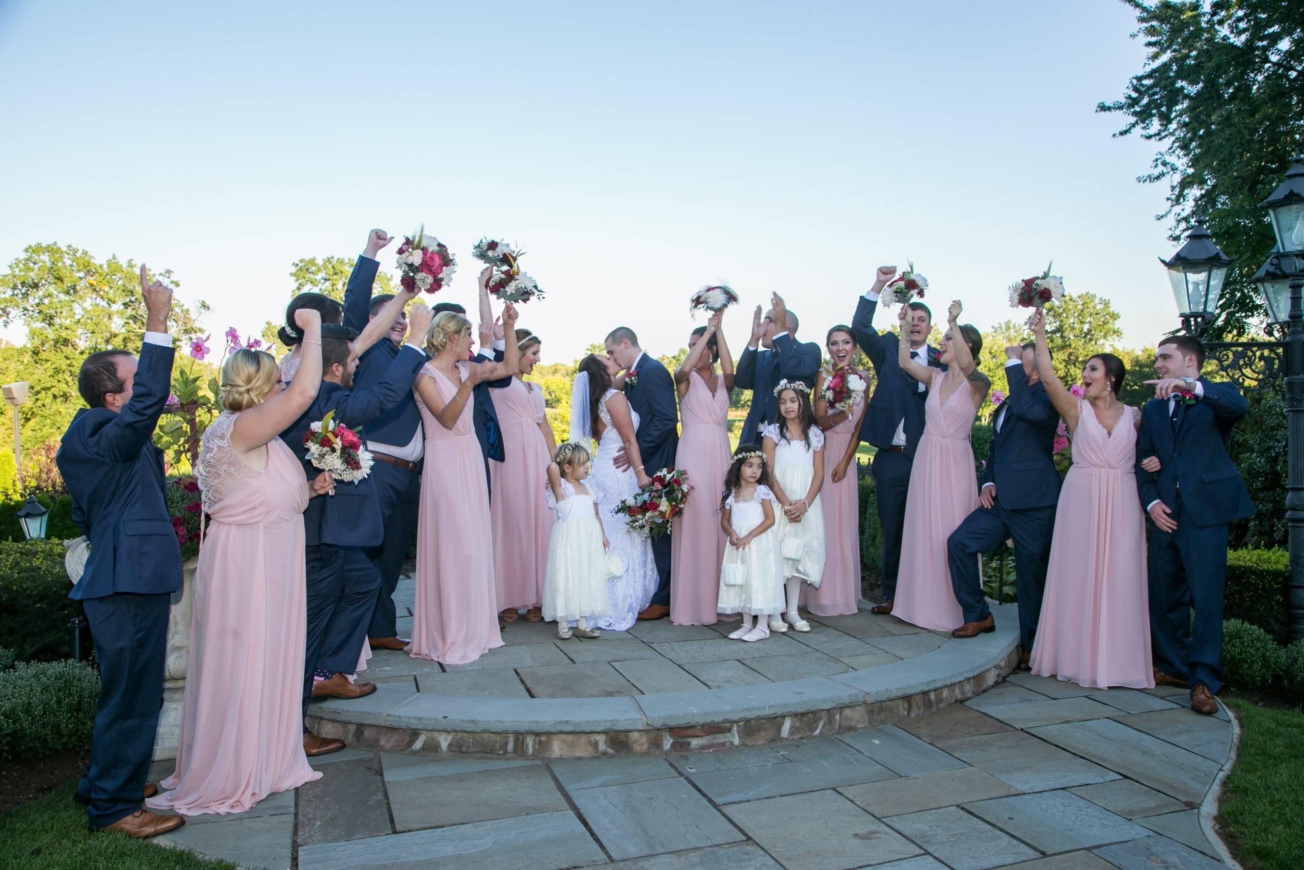 Park Savoy bridal party on outdoor patio