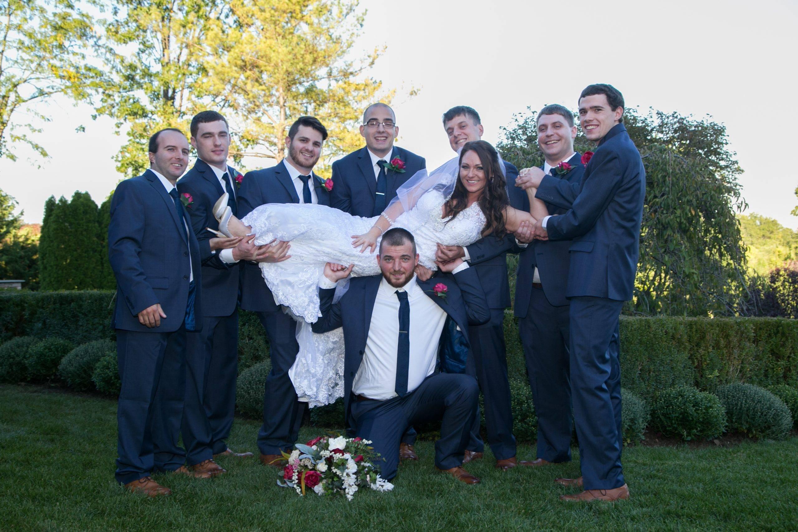 Park Savoy groomsmen with bride