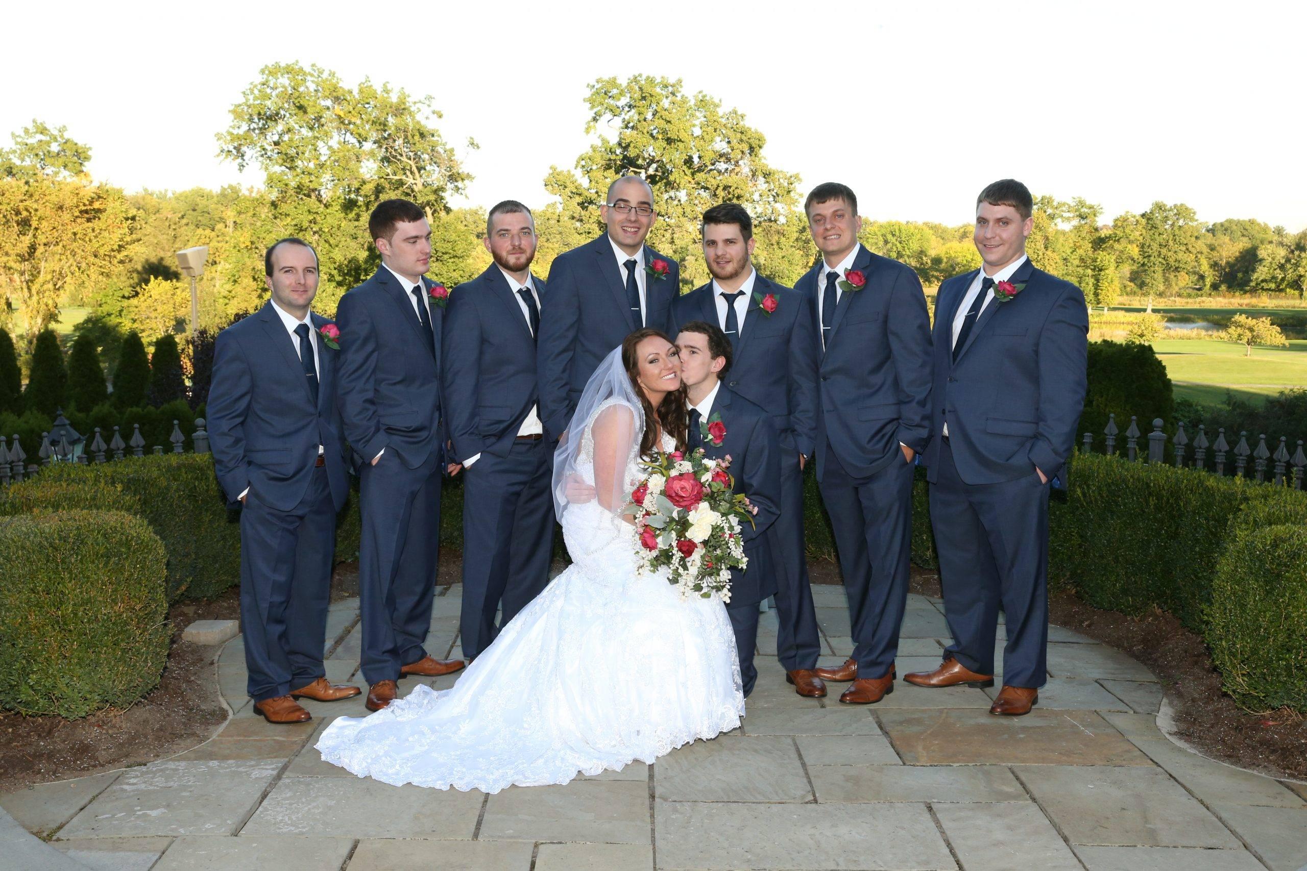 Park Savoy groomsmen with bride and groom