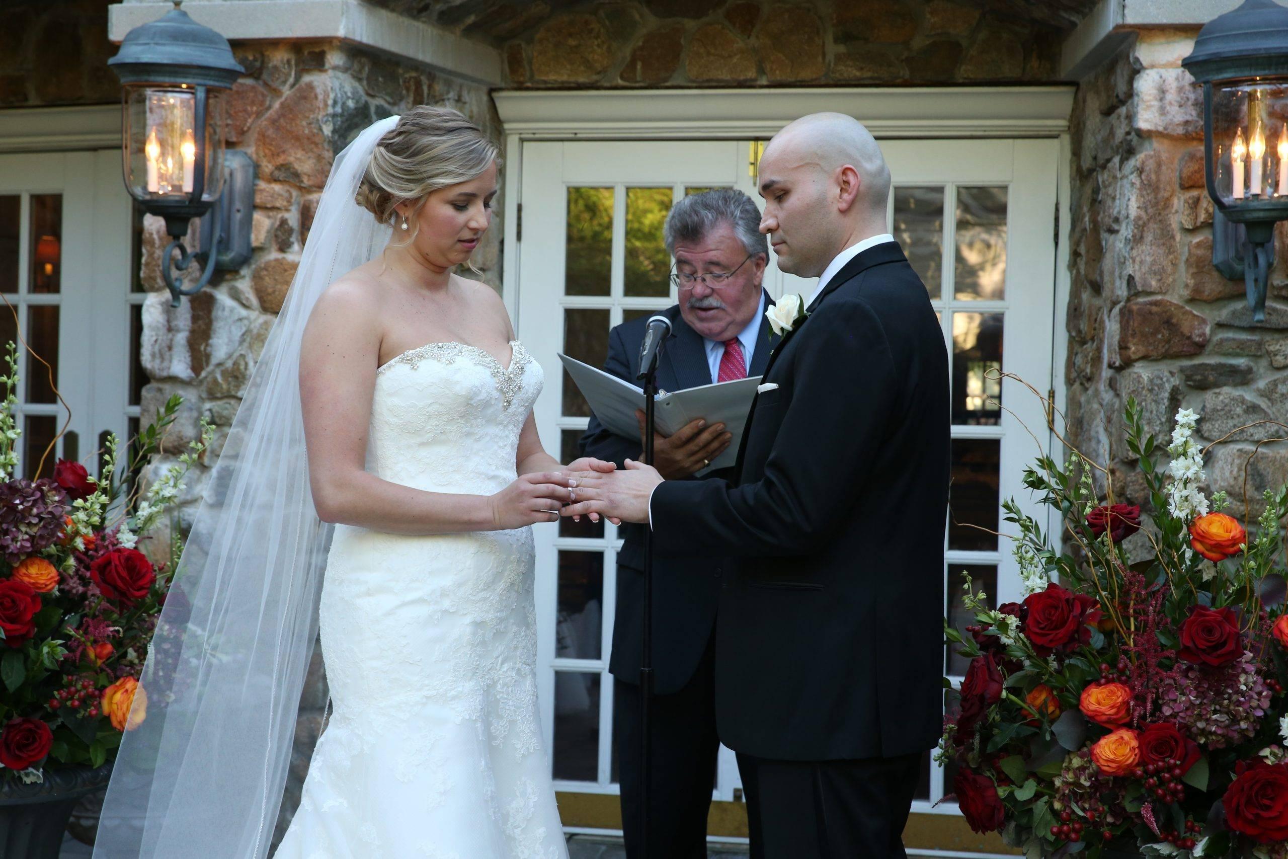 Olde Mill Inn wedding ring exchange
