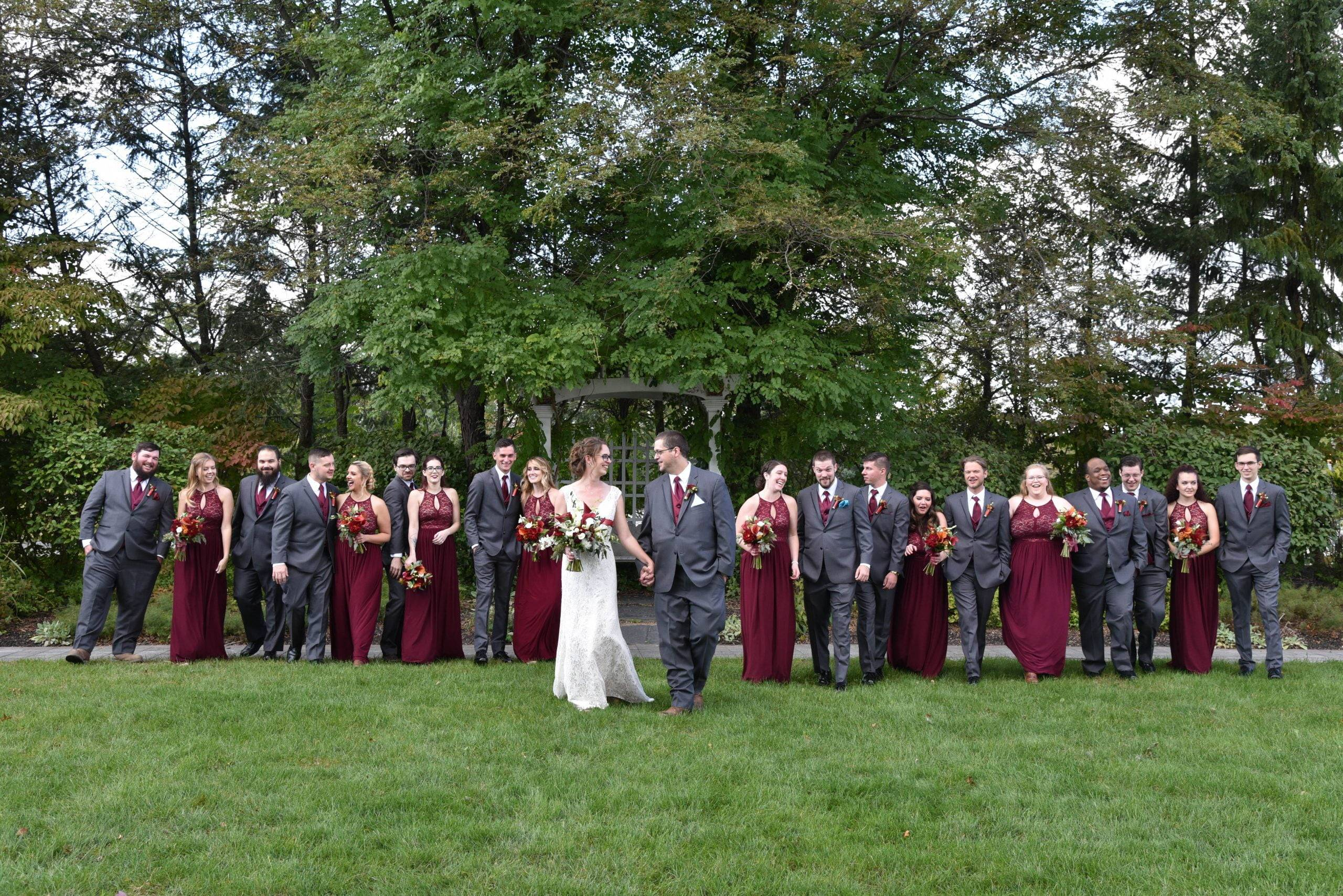 Birchwood Manor bridal party