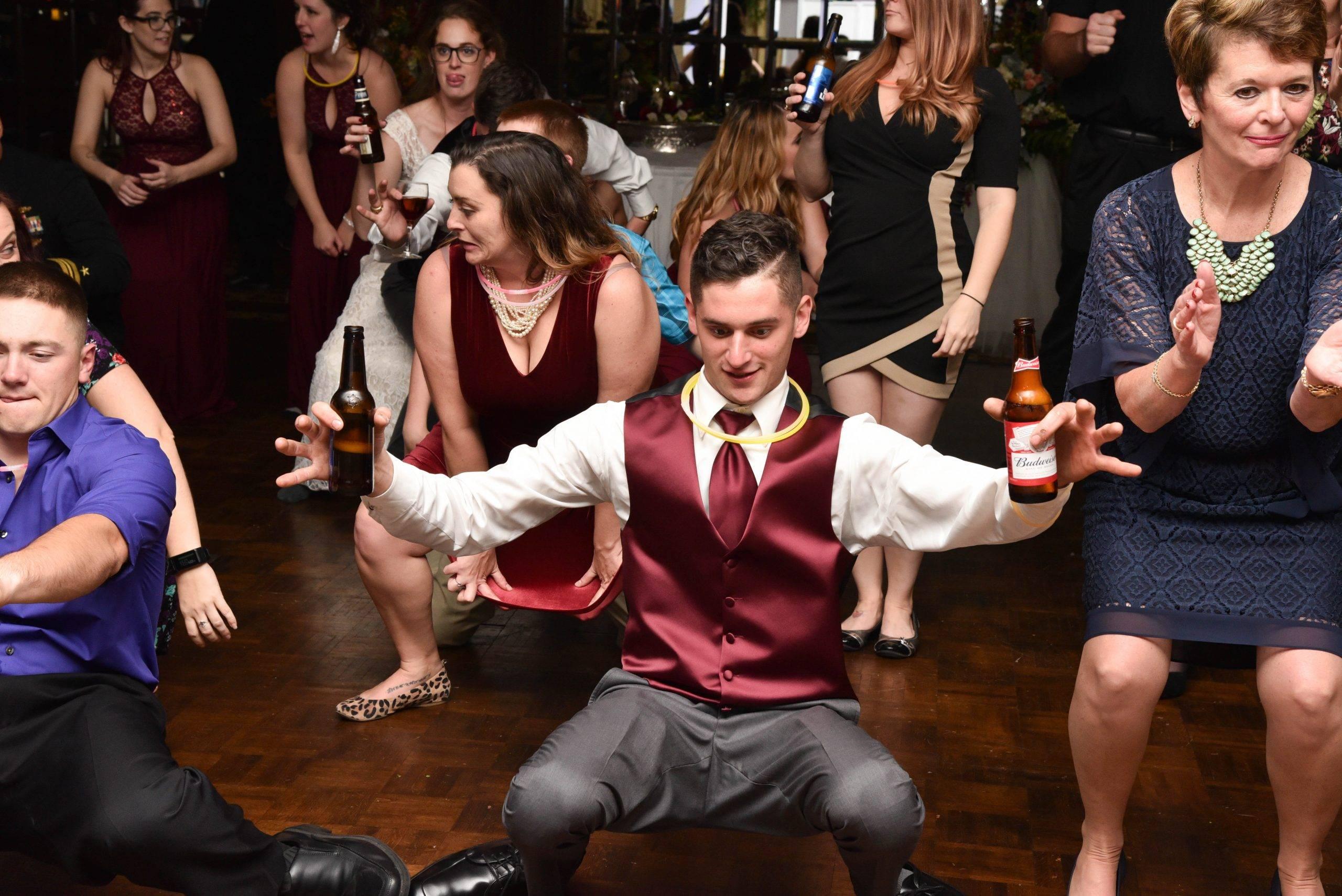 Birchwood Manor groomsman dancing