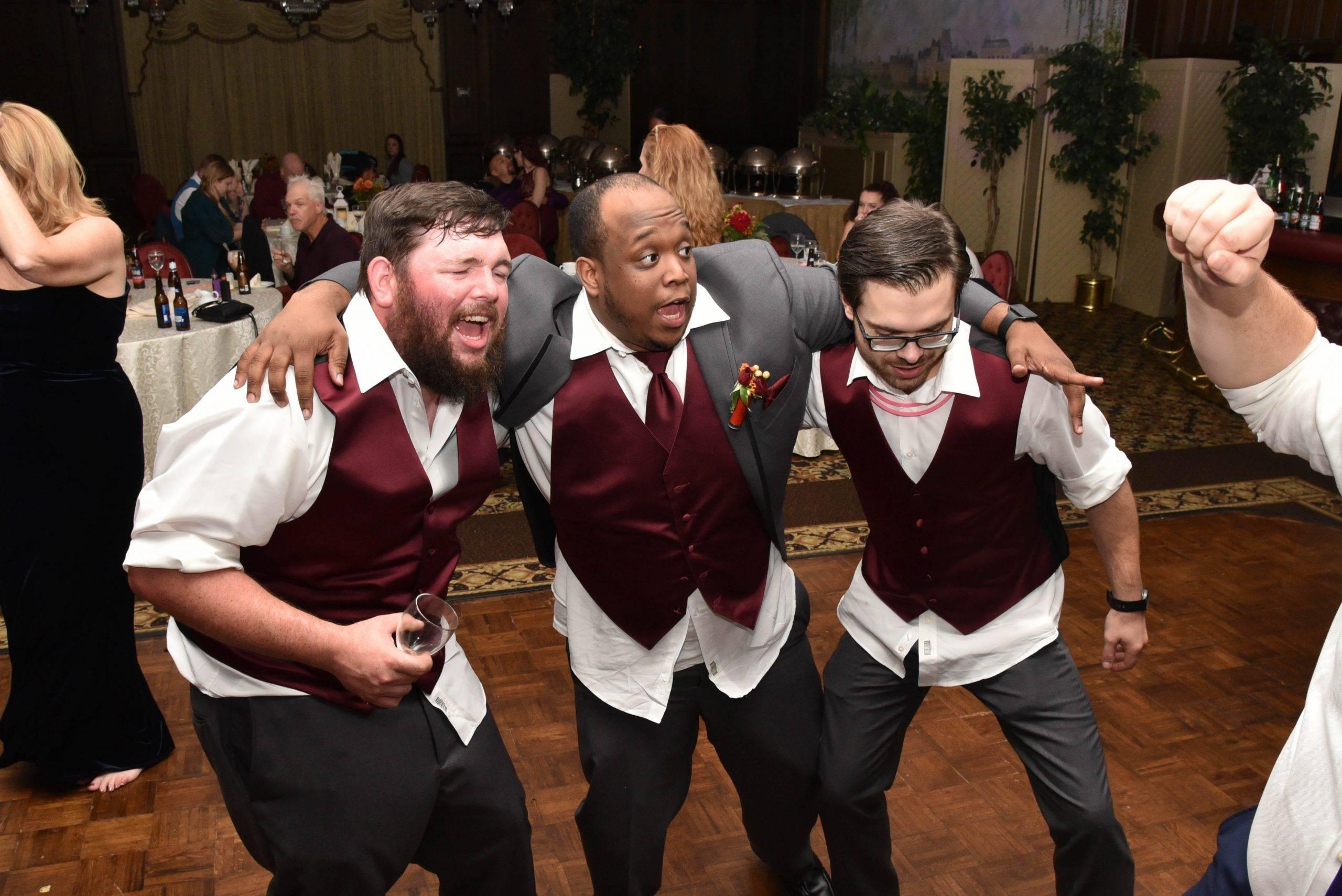 Birchwood Manor dancing groomsmen