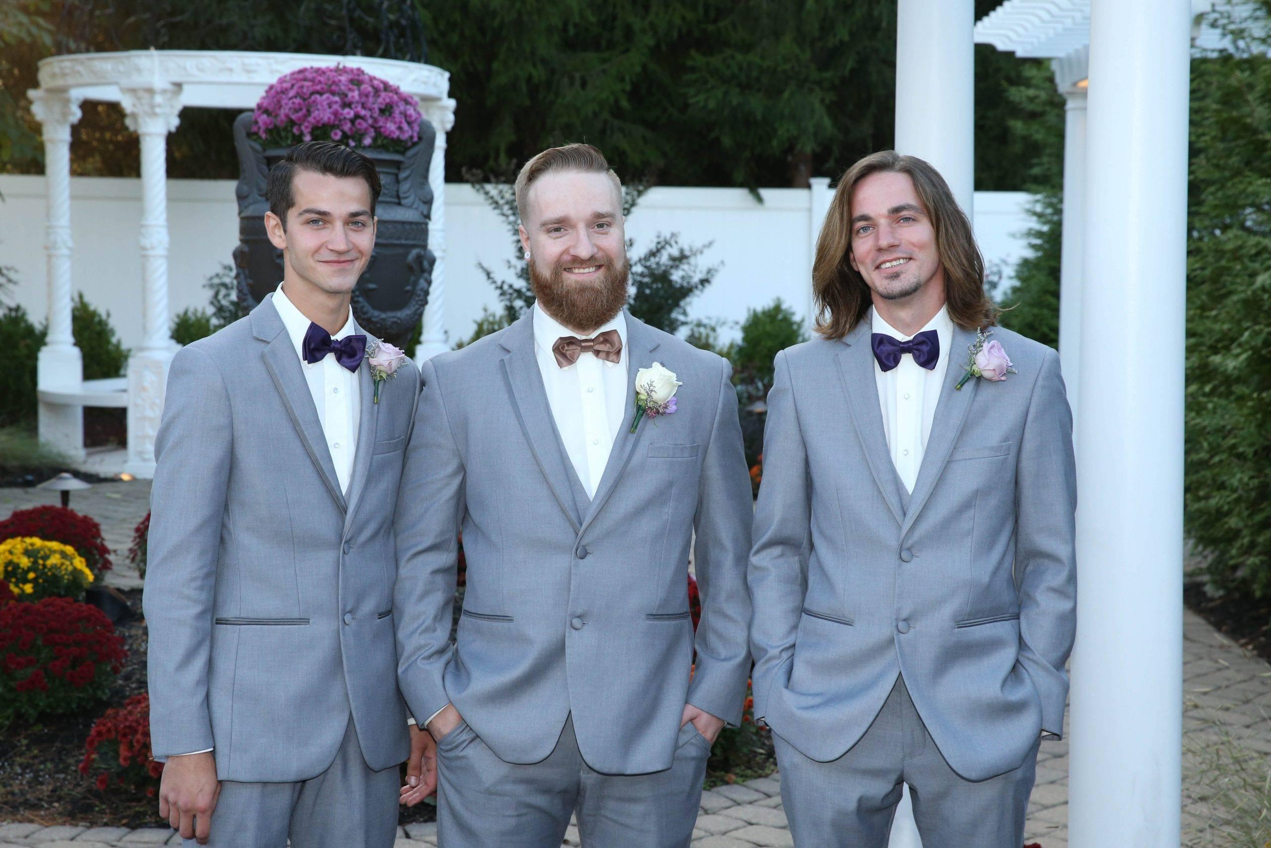 Primavera Regency groom and his groomsmen