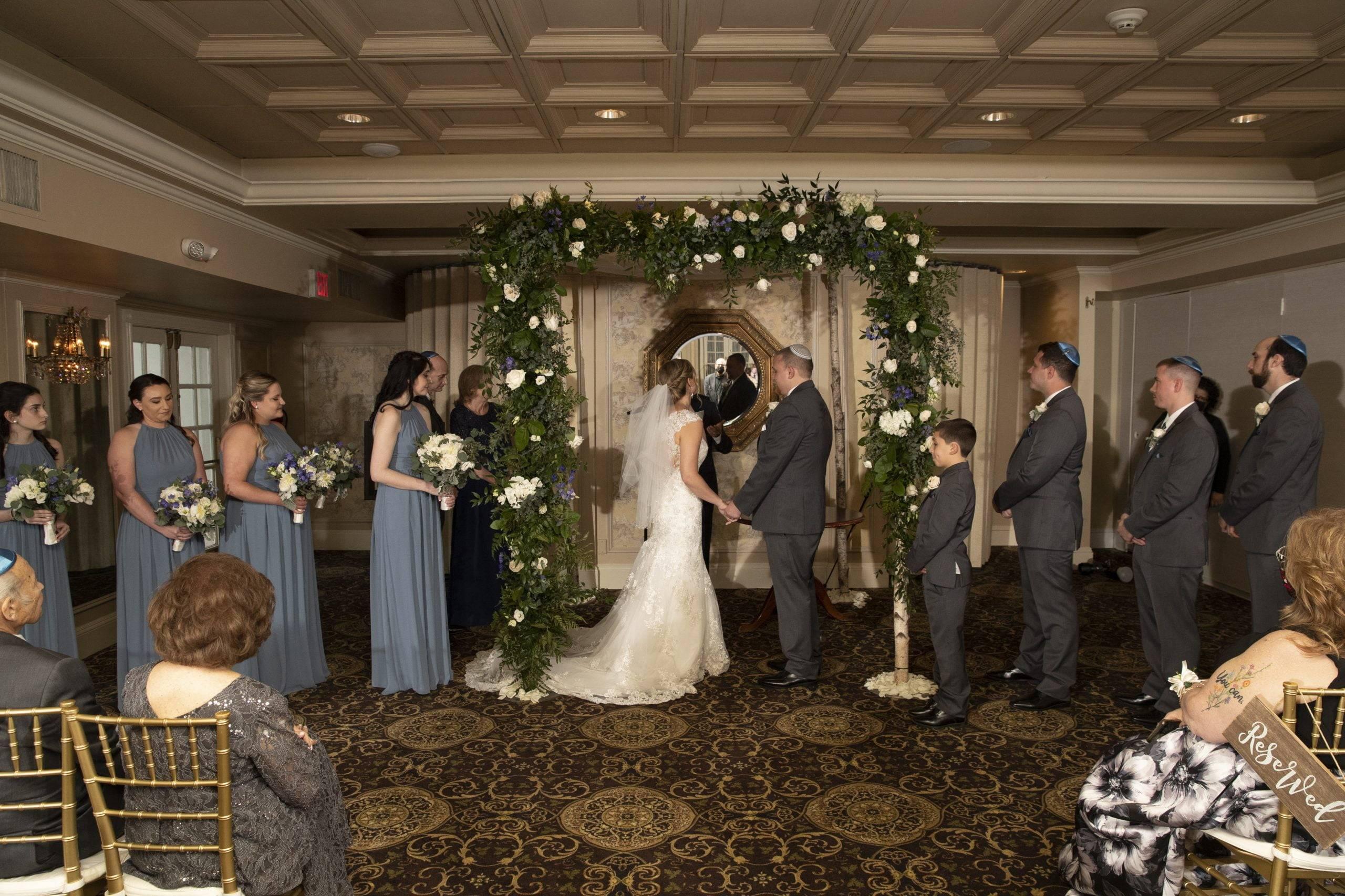 Olde Mill Inn wedding ceremony indoors