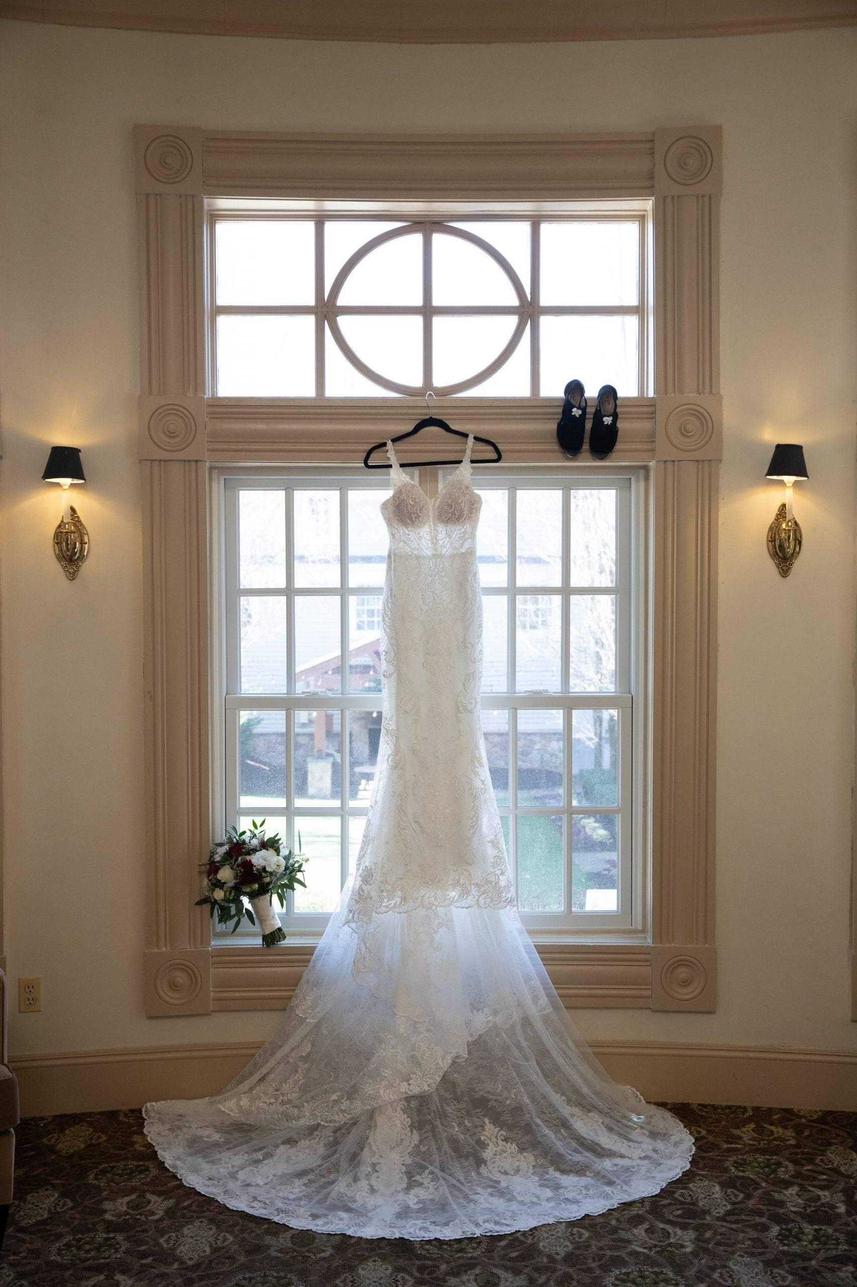 Olde Mill Inn wedding dress hanging