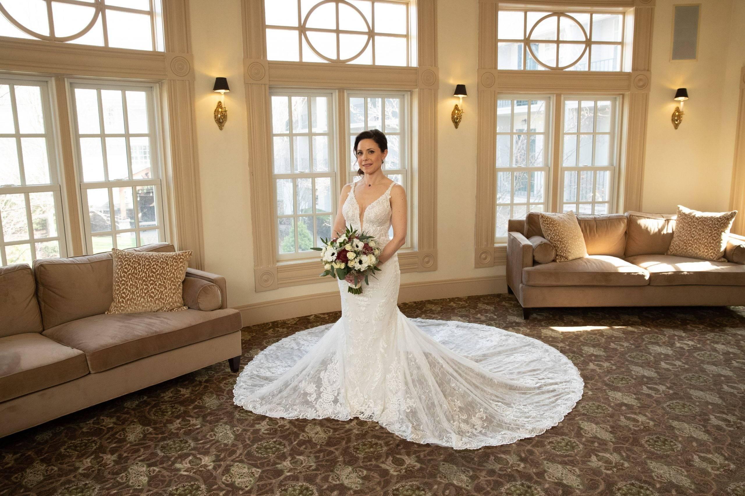 Olde Mill Inn bride ready in salon