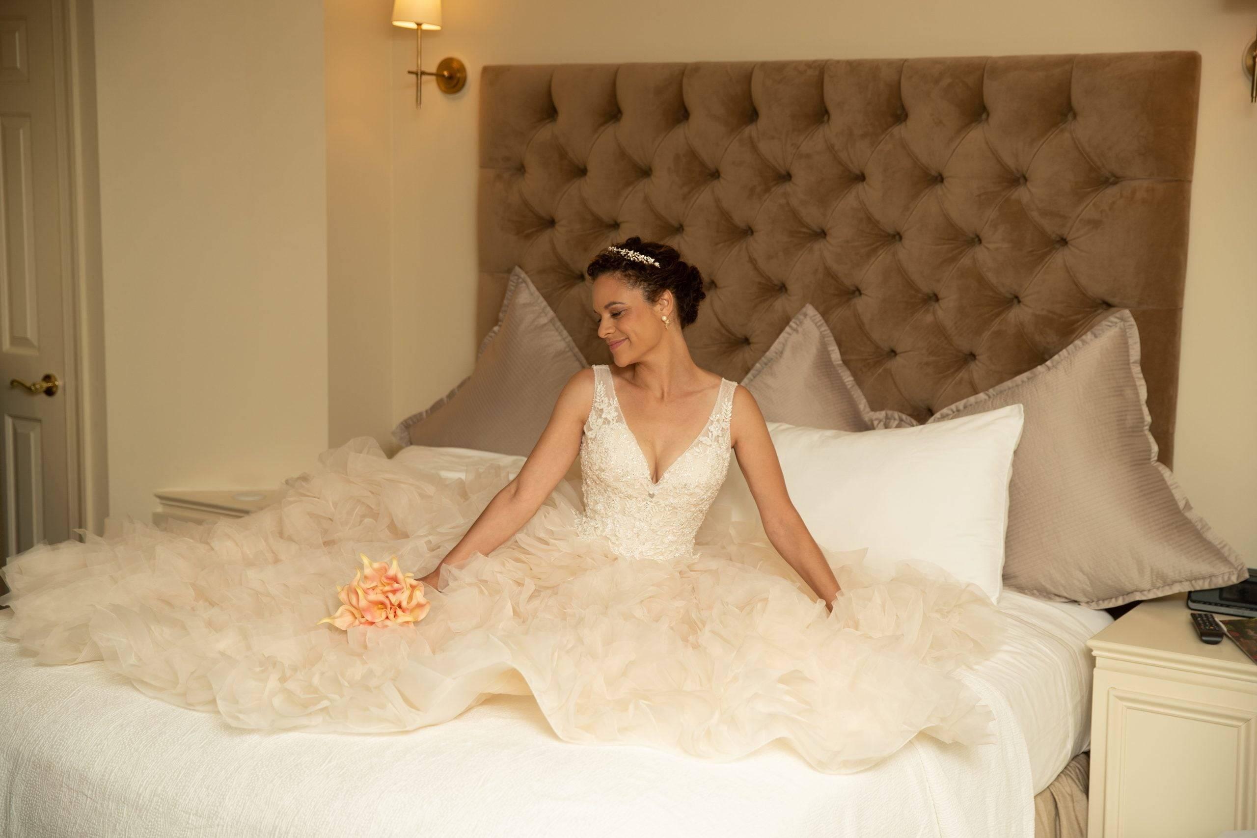 Olde Mill Inn bride in suite