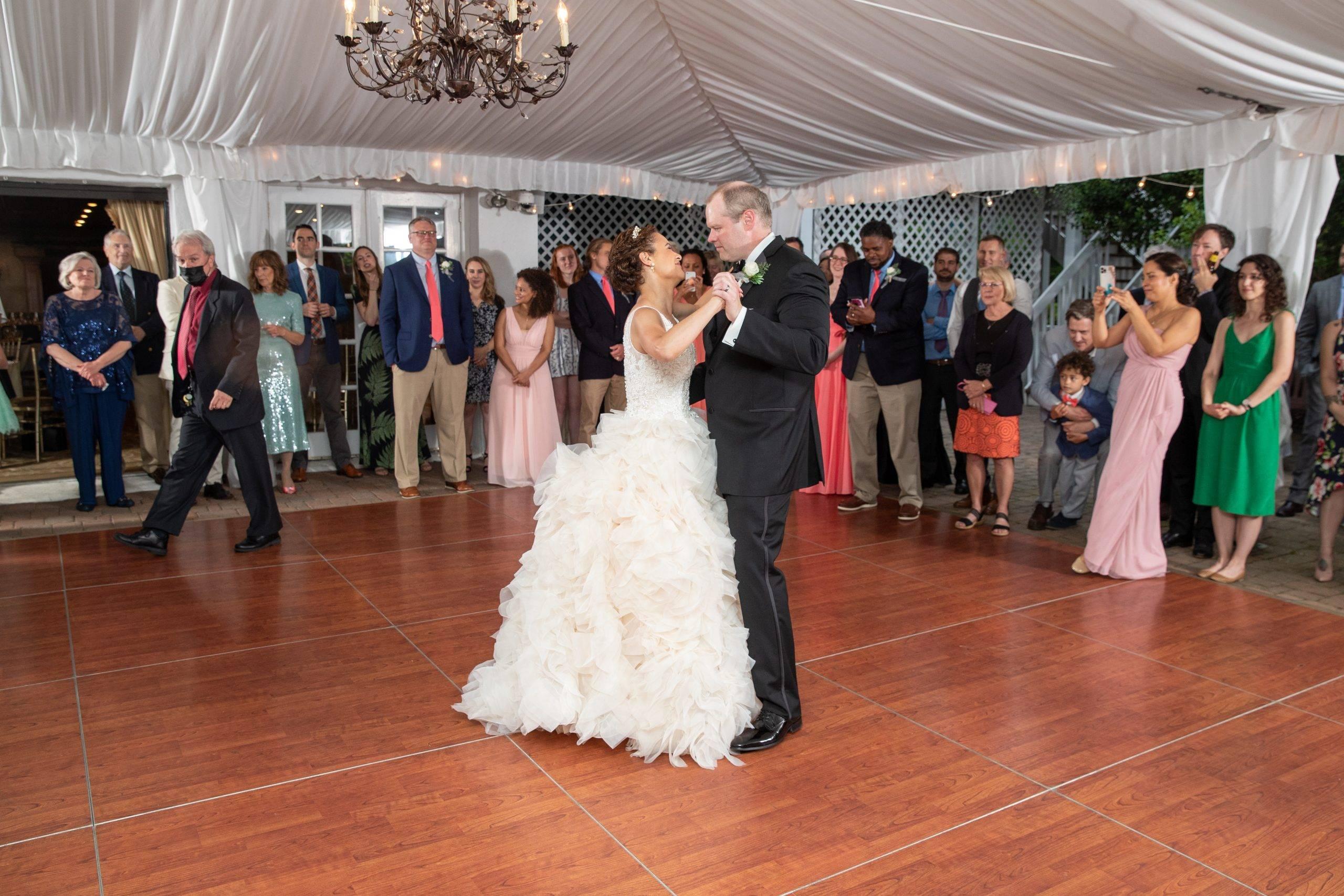 Olde Mill Inn wedding couple dancing
