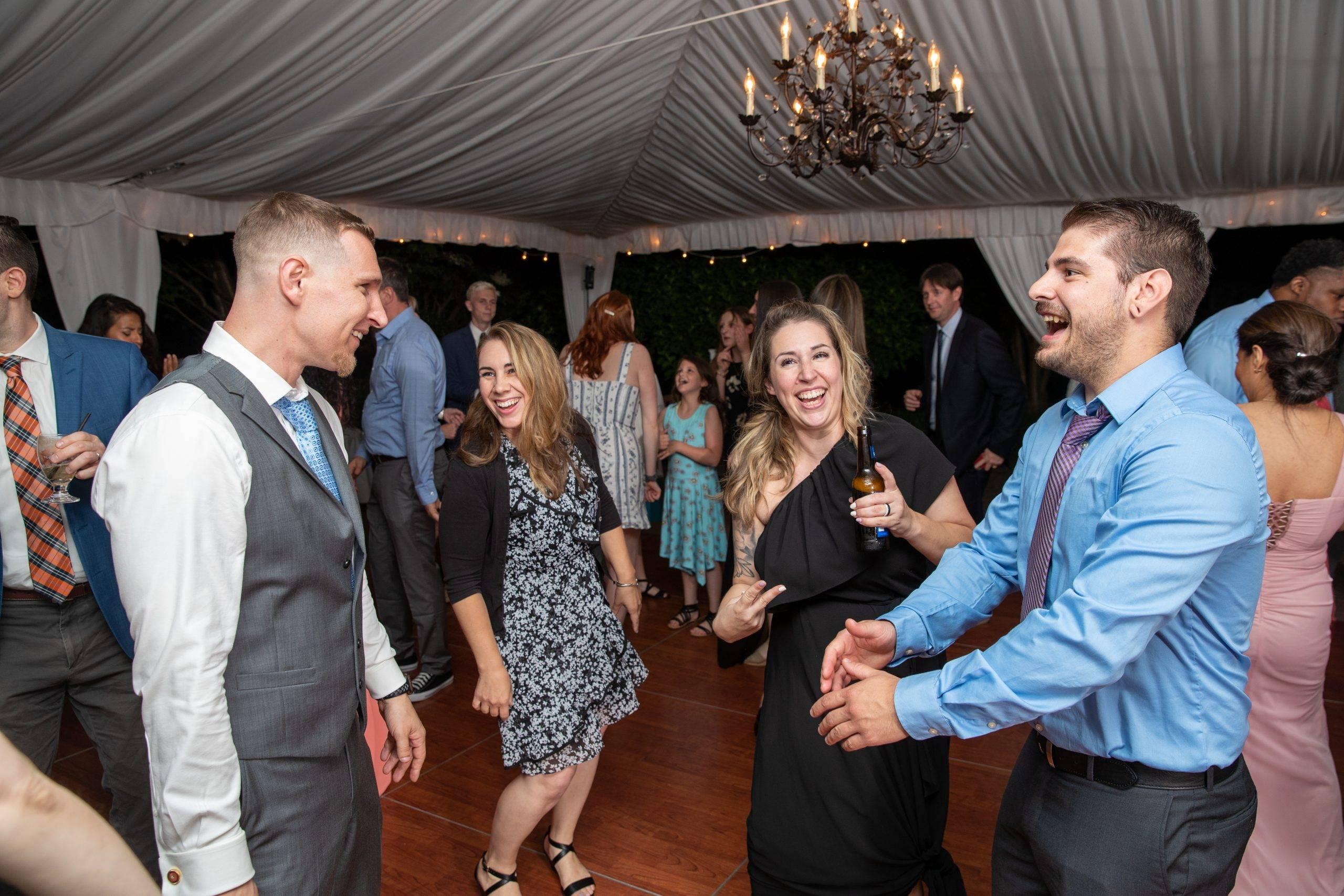 Olde Mill Inn dancing at wedding reception