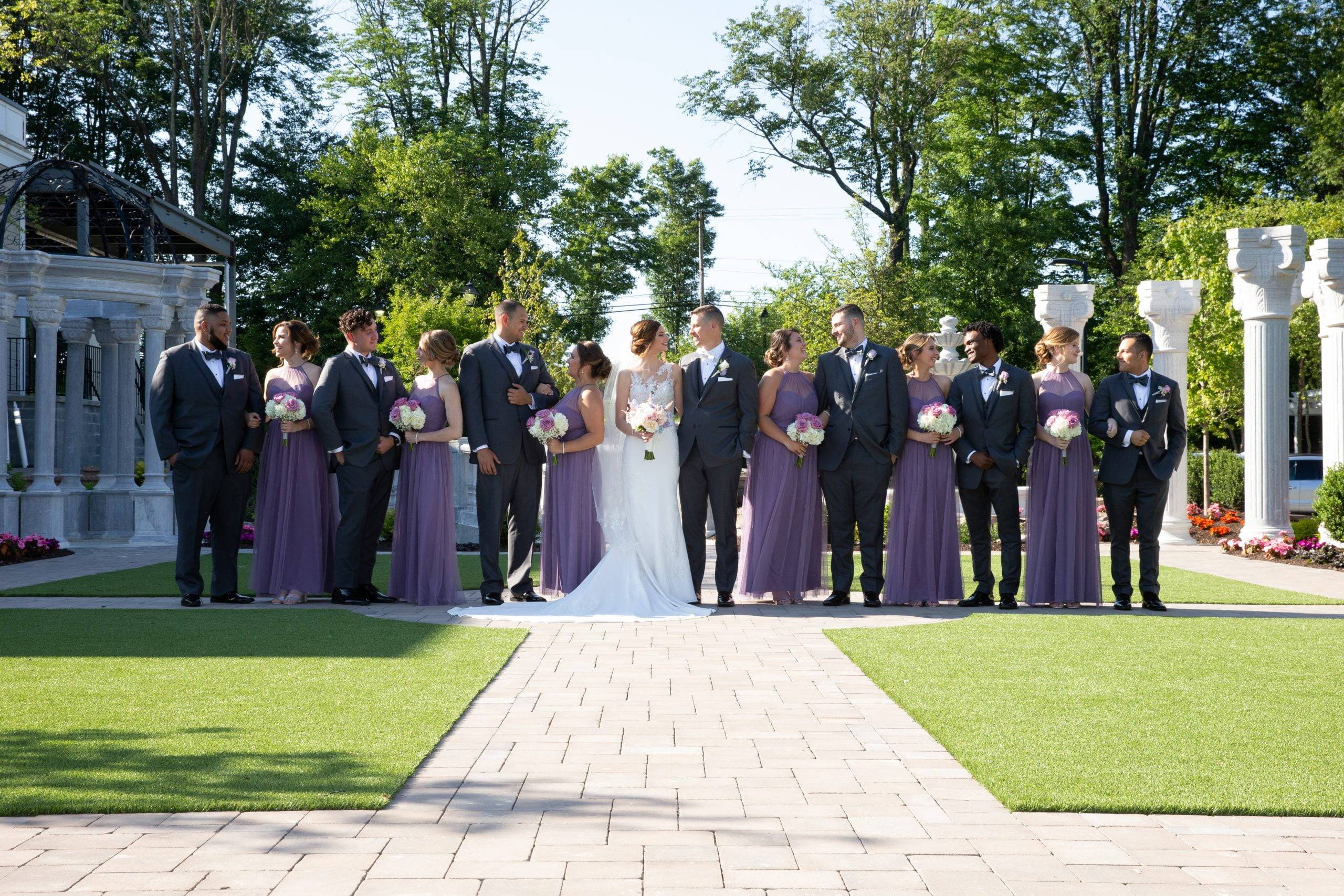 Meadow Wood wedding party