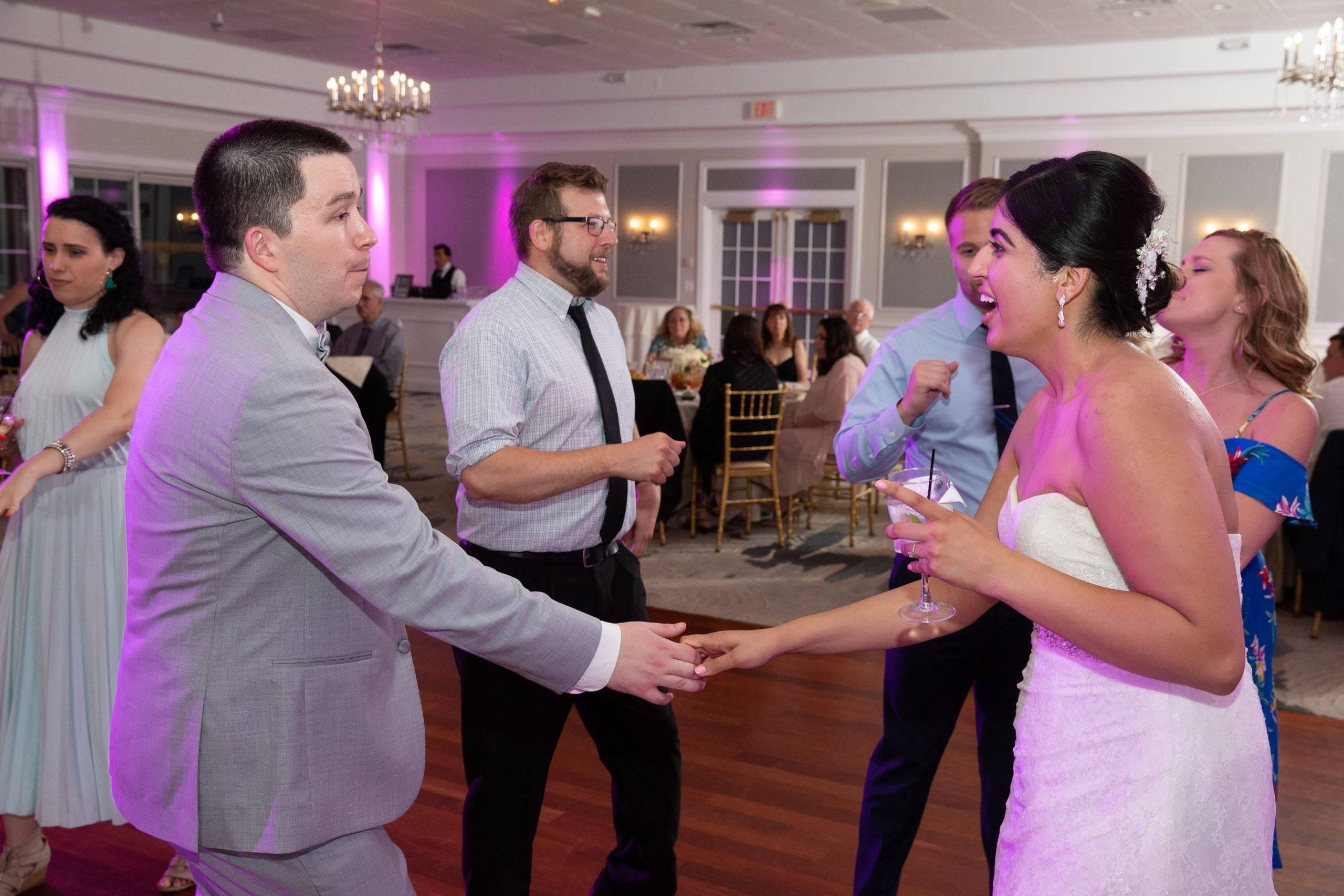 Brooklake bride and groom dancing