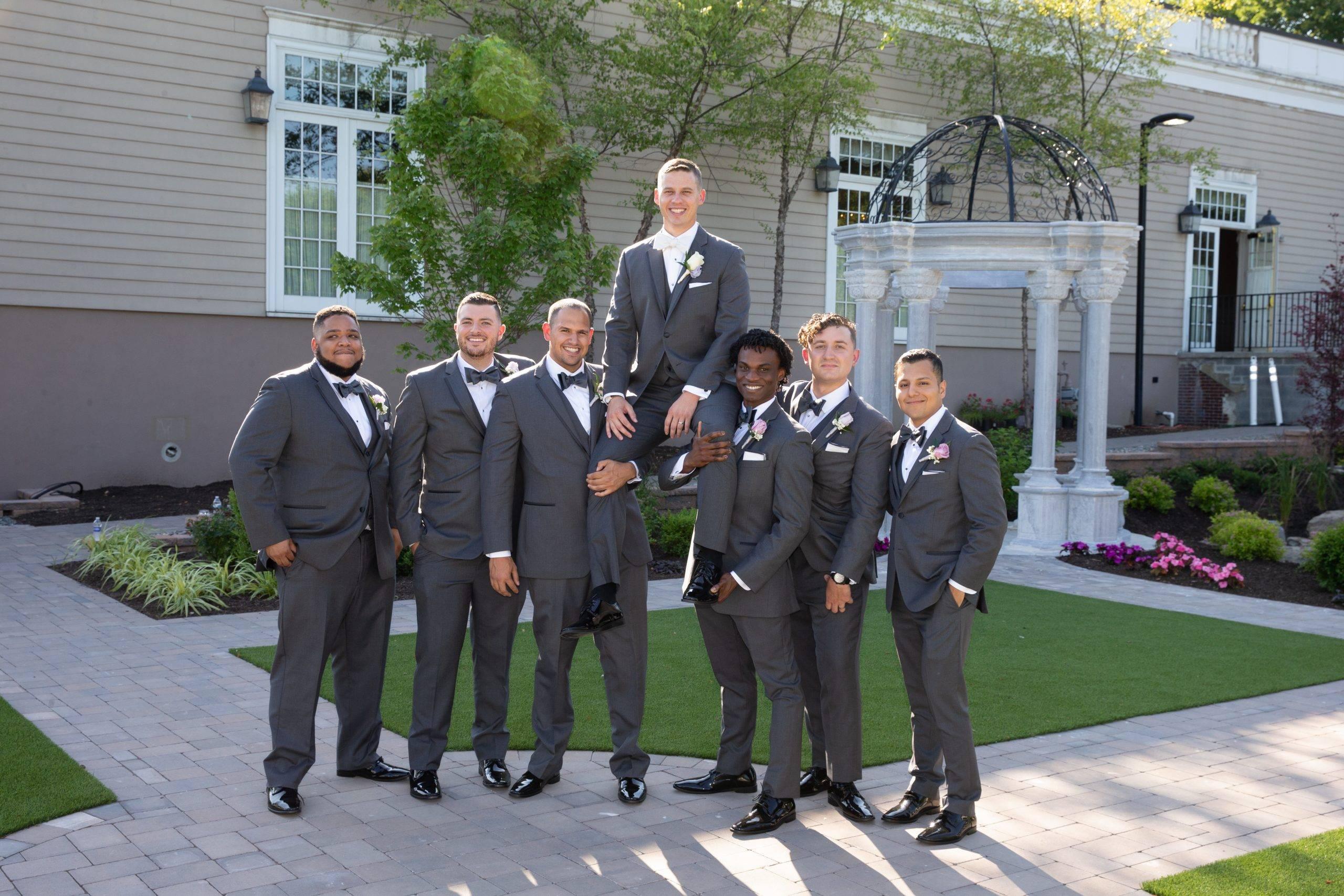 Meadow Wood groom and groomsmen
