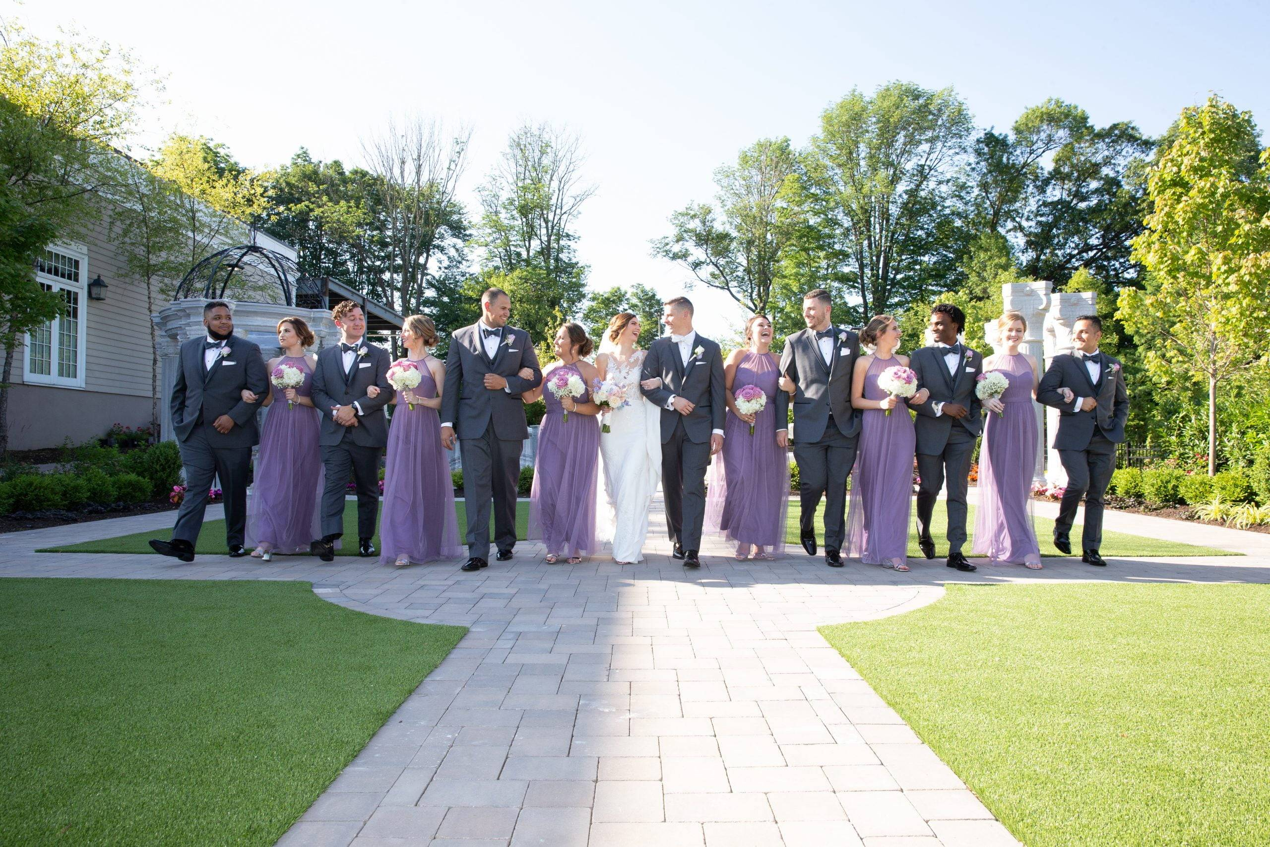 Meadow Wood bridal party outside