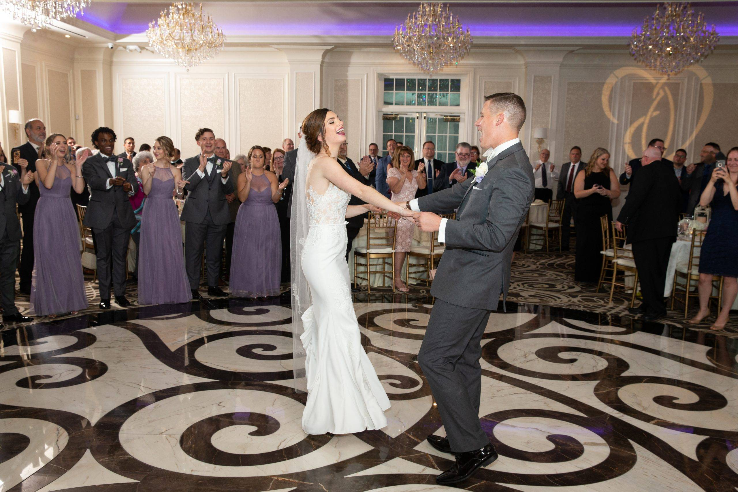 Meadow Wood bride and groom dance