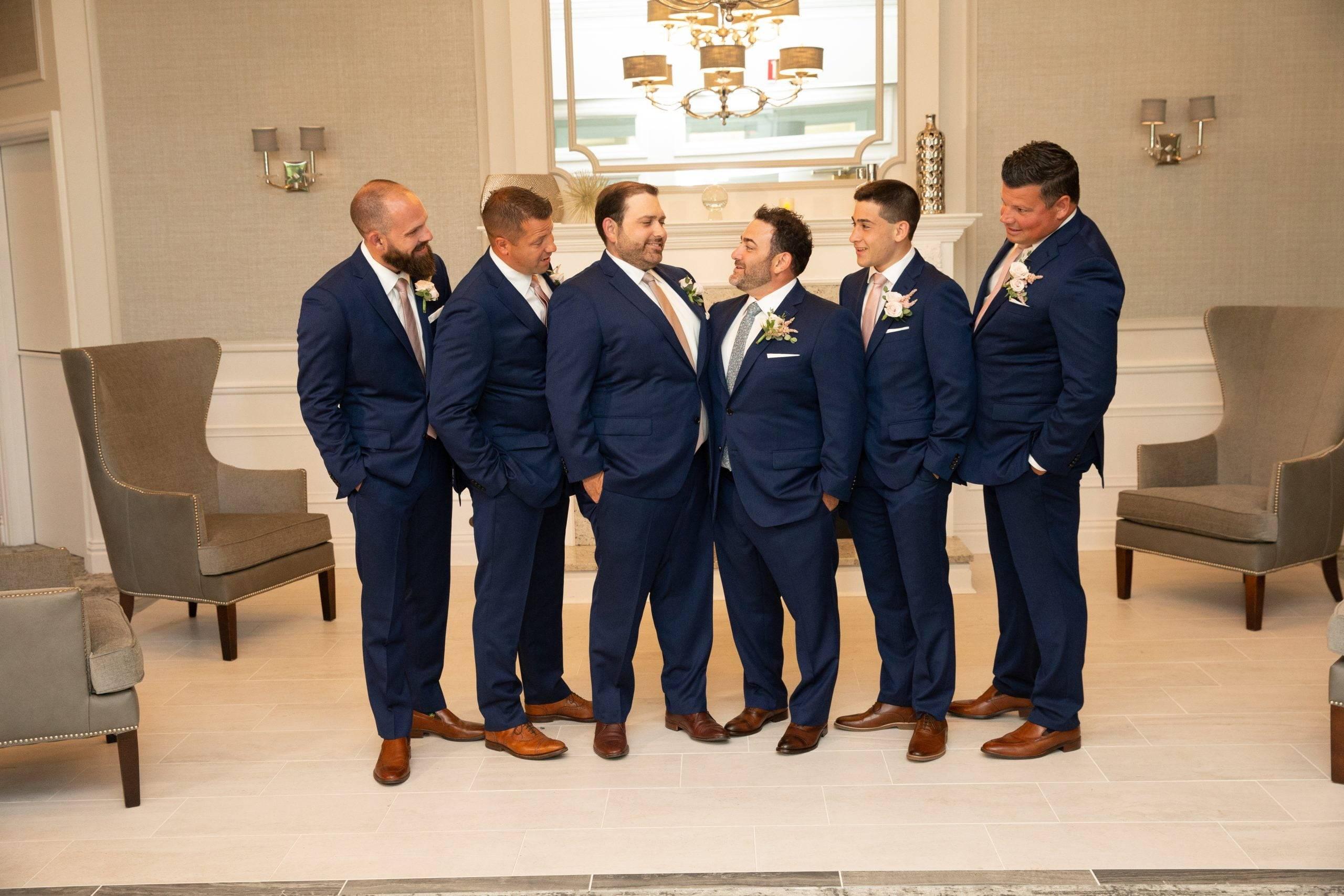 Brooklake groom and groomsmen are ready