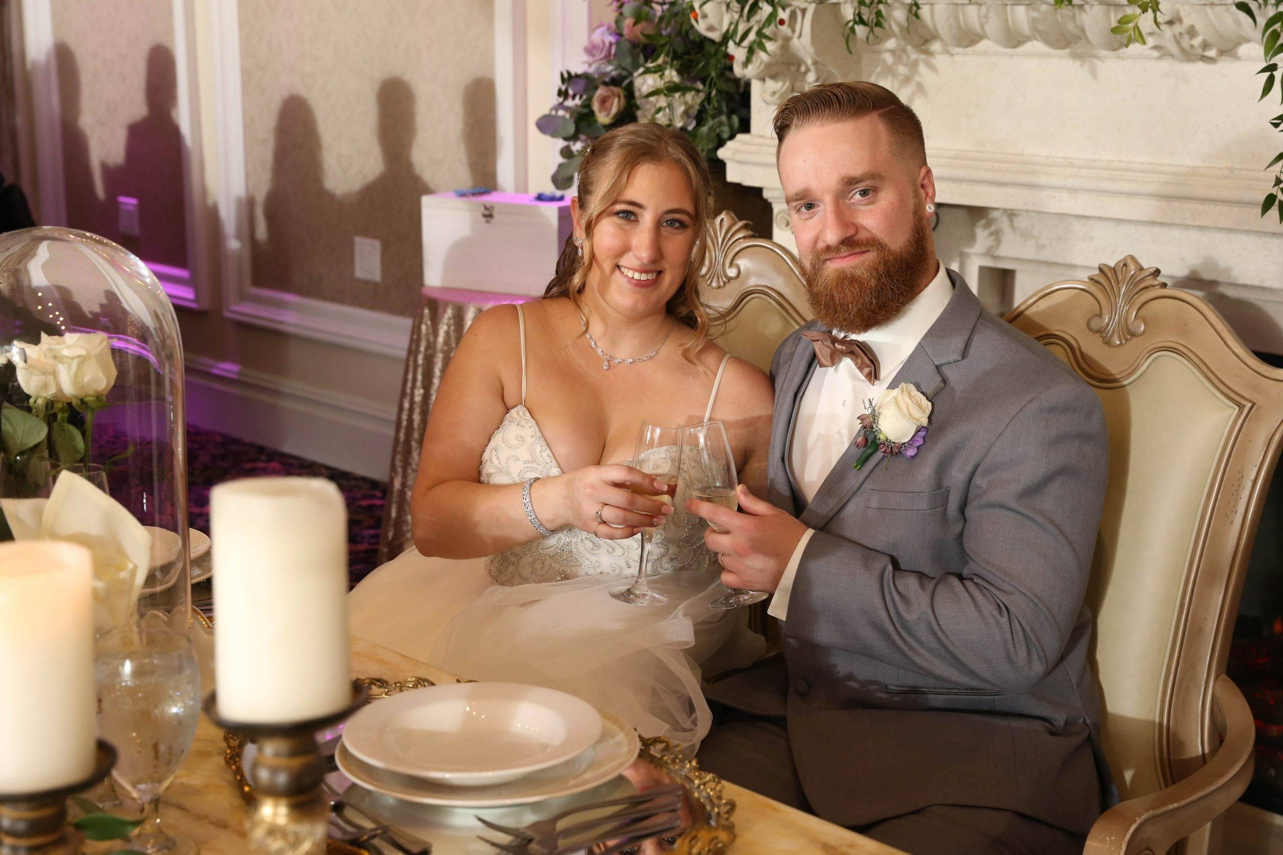 Primavera Regency bride and groom at wedding reception