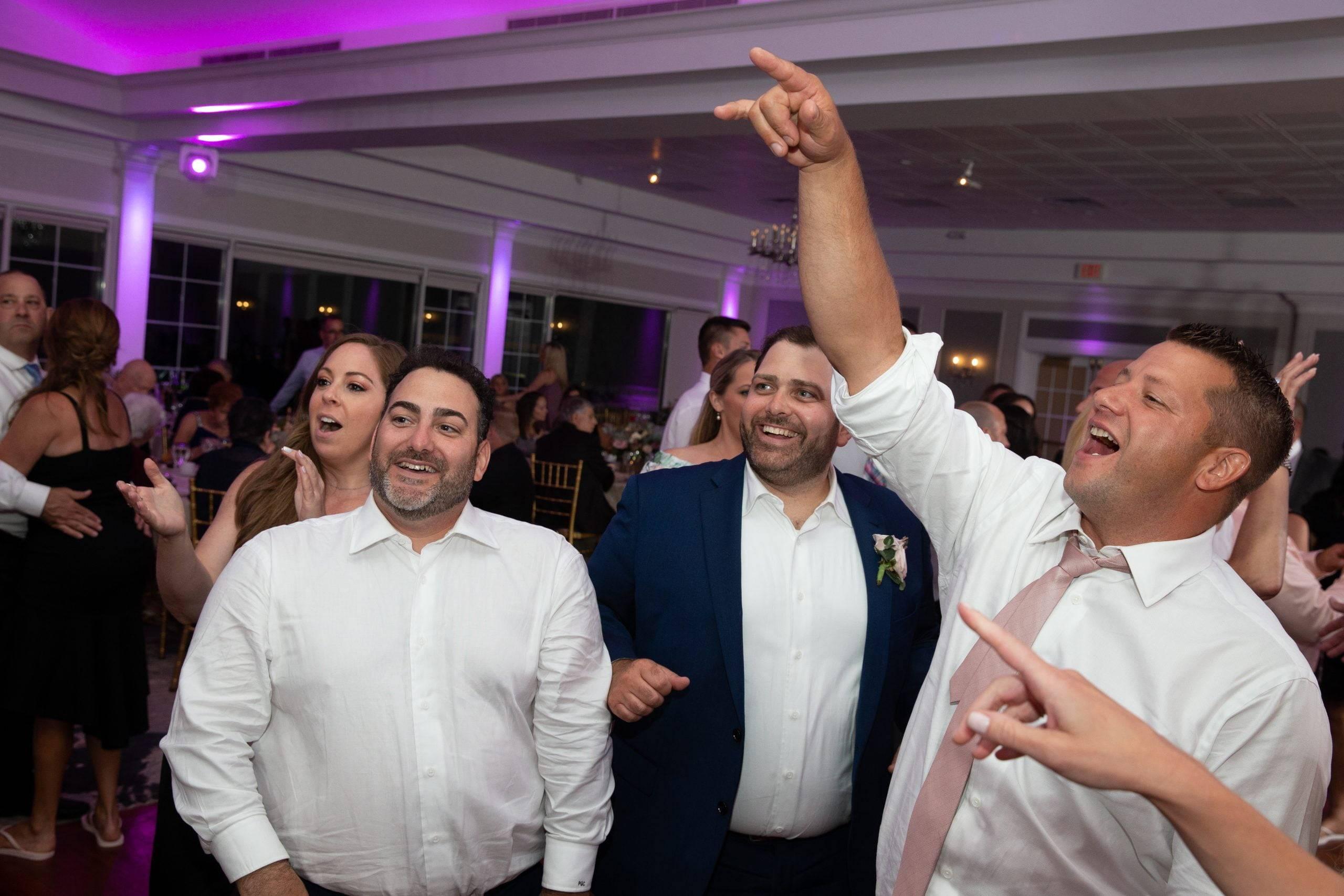 Brooklake groomsmen dancing