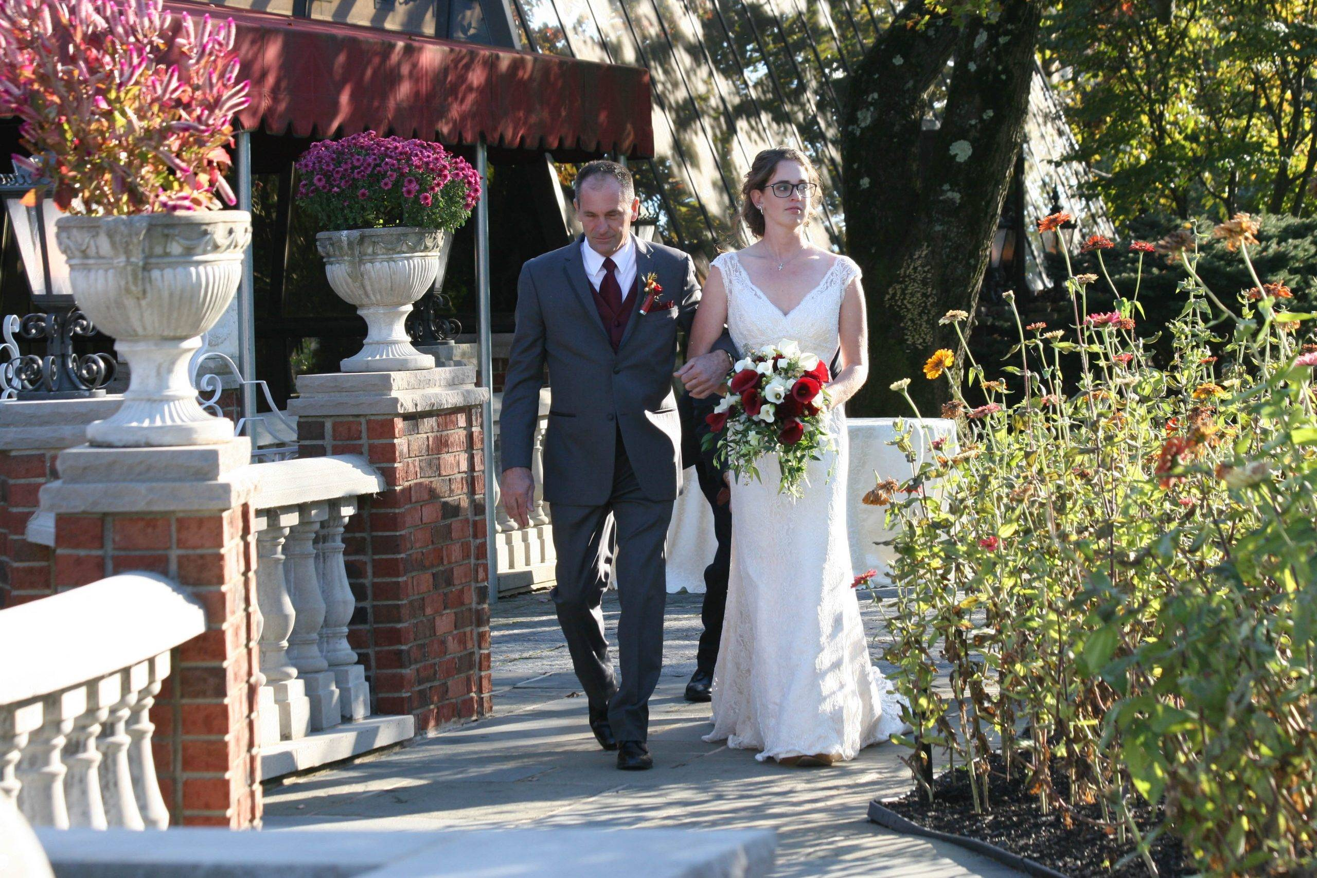 Birchwood Manor bride with father of the bride