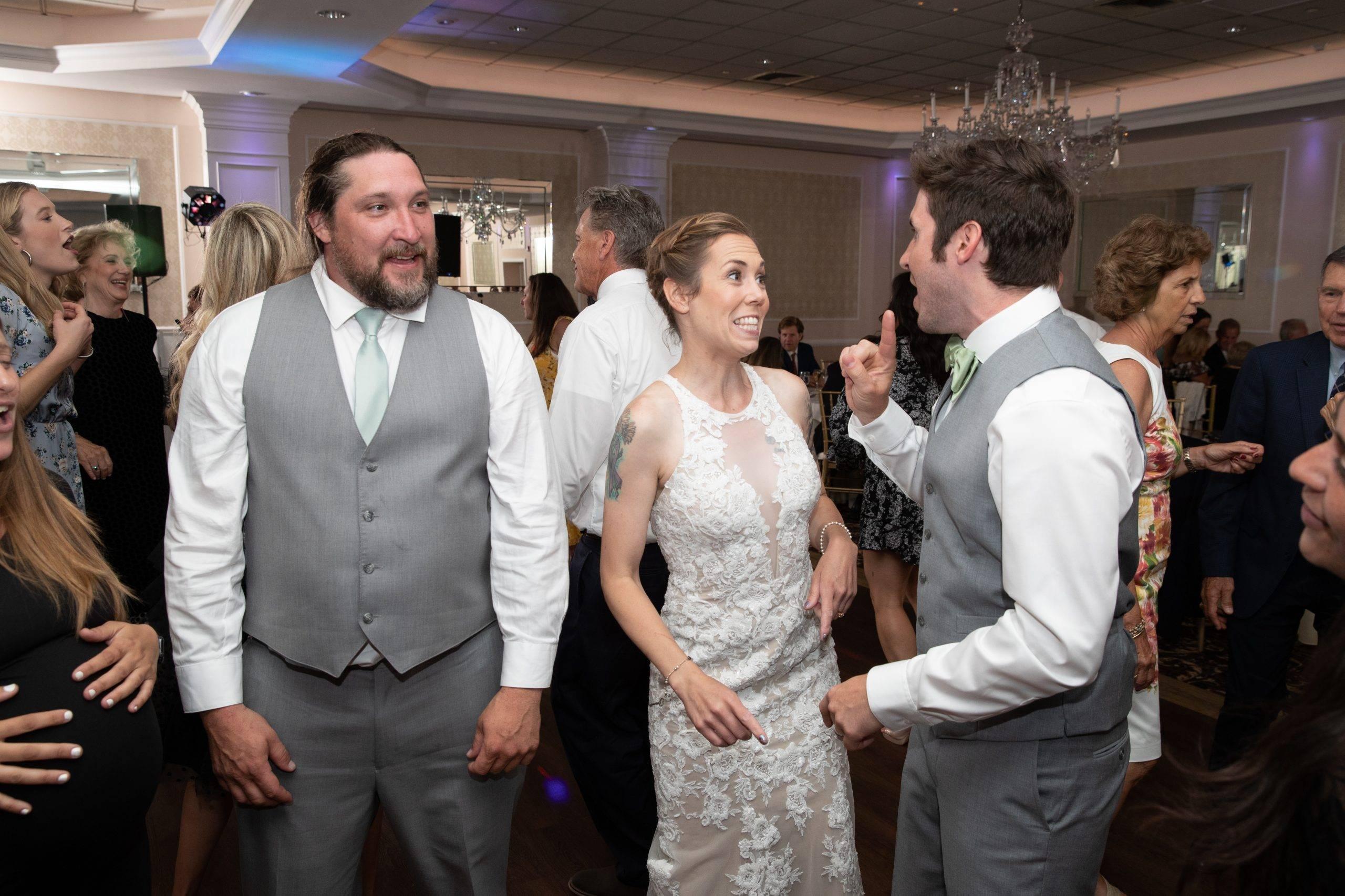 Bridgewater Manor bride dancing at wedding reception